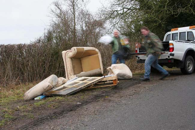 Don't encourage fly-tippers. Stay legal!